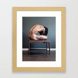 Mountain (Grey Series) Framed Art Print
