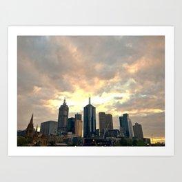 Majestic Imposing Melbourne Art Print