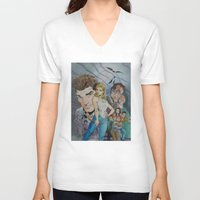 buffy the vampire slayer V-neck T-shirts featuring Buffy and the vampire by PaulysVoice