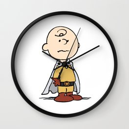 One Punch Charlie Brown Wall Clock