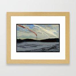 Windy Landscape Framed Art Print
