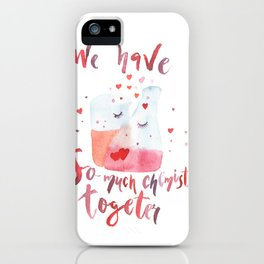 Valentines day art Chemistry iPhone Case