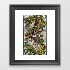 Zombie Geisha Girl Framed Art Print