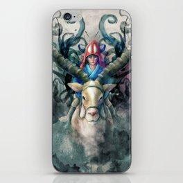 Ashitaka Demon Watercolor Digital Painting iPhone Skin