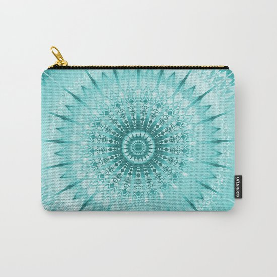Tuquoise Metallic Mandala Carry-All Pouch