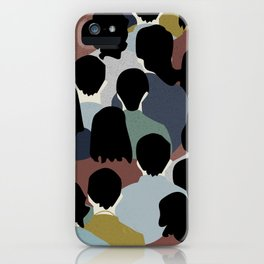 STANDING IN A CROWD iPhone Case