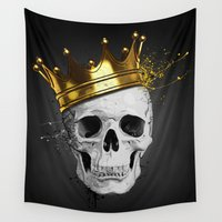 royal Wall Tapestries featuring Royal Skull by Nicklas Gustafsson