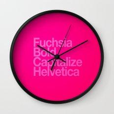MetaType Fuschia Wall Clock