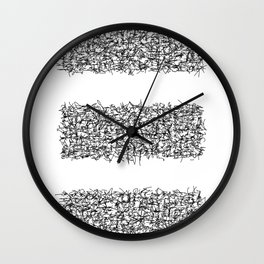 tri white Wall Clock