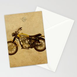 Scrambler 350 1970 vintage classic motorcycle Stationery Cards