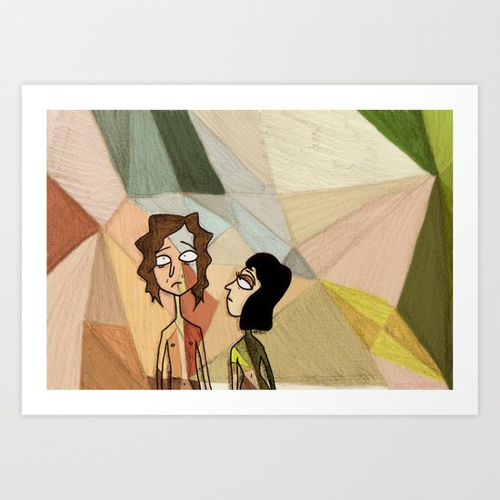 Gotye and Kimbra Art Print
