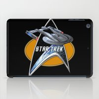 akira iPad Cases featuring StarTrek Akira  Command Signia Chest by Jamie Fontaine