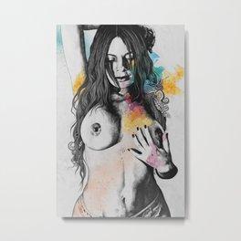 Paint a Vulgar Picture | female nude erotic portrait Metal Print