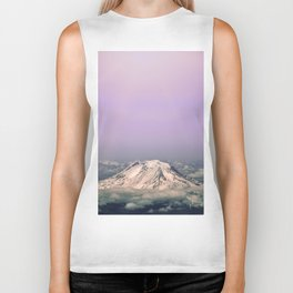 Above the Clouds - Mt. Adams Nature Photography Biker Tank