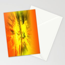 Blazing Yellow Abstract Stationery Cards