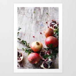 Pomegranates Art Print