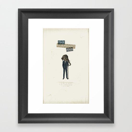 The elephant man Framed Art Print