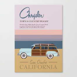 Chrysler Town & Country Woody | San Onofre California Canvas Print