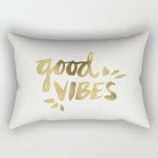 Good Vibes – Gold Ink Rectangular Pillow