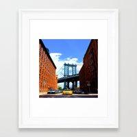 bridge Framed Art Prints featuring Bridge by Brown Eyed Lady