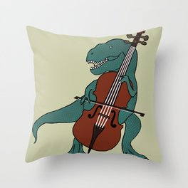T-Rex Double Bass Throw Pillow