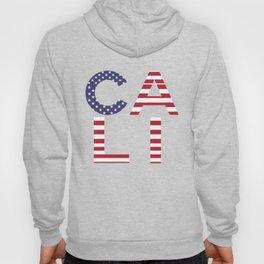 CALI American Flag Califronia Typography Hoody