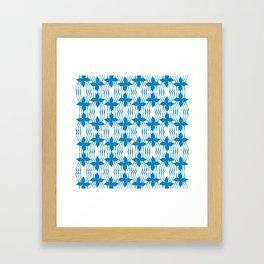 Bluewave Pinwheel Framed Art Print