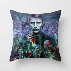Hannibal Holocaust - They Live Return of the Living Dead Mads Mikkelsen Throw Pillow