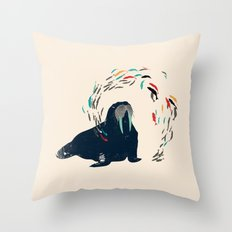 Walrus. Throw Pillow