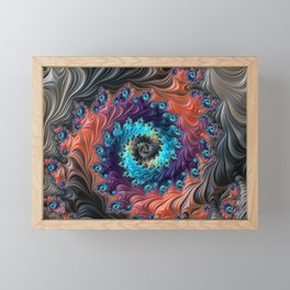 Grand Spiral fractal by Amanda Martinson Framed Mini Art Print
