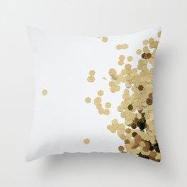 Glitz-Gold Throw Pillow