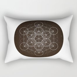 Metatrons Cube Is Out Of Space Rectangular Pillow