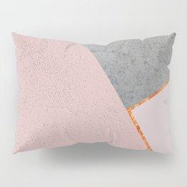BLUSH GRAY COPPER GEOMETRICAL Pillow Sham