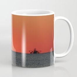 Trawlers at Sunset | Bald Head Island North Carolina Coffee Mug