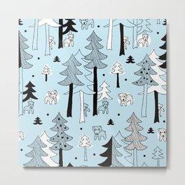 Scandinavia winter forest Metal Print