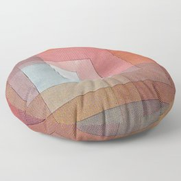 1930 - Polyphonic Setting for White by Paul Klee Floor Pillow
