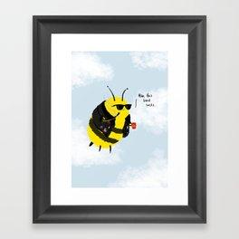 Festival Bees Framed Art Print