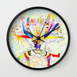 THE DAY I GOT MY JUICY CRAYONS AND YOU MADE YOUR BEST HUMUS EVER Wall Clock