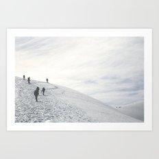 Volcano Ascent 01 Art Print