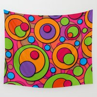 polka dots Wall Tapestries featuring Polka Dots by Shelly Bremmer