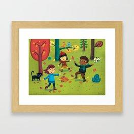 Fall Foliage Fun Framed Art Print