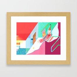 Bathtub Girl Framed Art Print