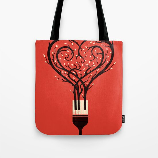 Paint Your Love Song Tote Bag