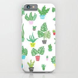 tiny happy house plants iPhone Case