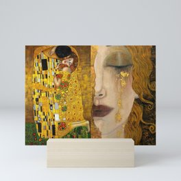 Gustav Klimt portrait The Kiss & The Golden Tears (Freya's Tears) No. 1 Mini Art Print