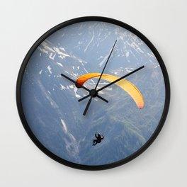 Parachute in Chamonix Wall Clock