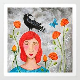 Beautiful Memories - Crow Art Print