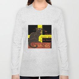 Le Chat Noir De Saint David De Rodolphe Salis Long Sleeve T-shirt
