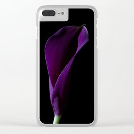 The Calla Purple 1 Clear iPhone Case