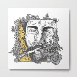 The smoke Metal Print